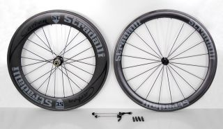 Aero Deep Dish Road Bike Wheels 50mm Front 85mm Rear Monocoque