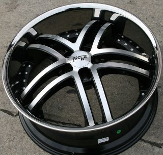 M877 22 Black Rims Wheels Infiniti M35 06 Up 22 x 9 0 5H 35