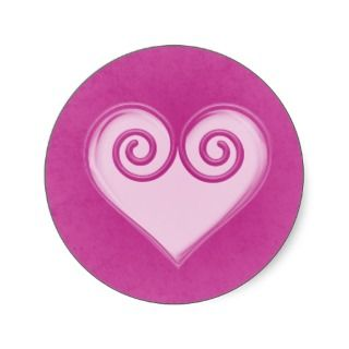 Pink Ghost Heart Sticker