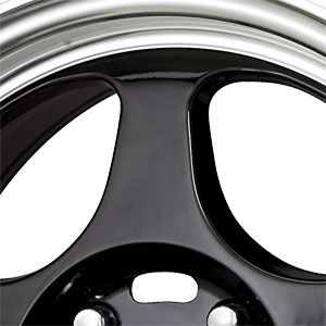 New 15X6.5 4 100 Dr 23 Gloss Black Machined Lip Wheels/Rims