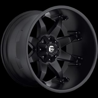 20x12 Black Wheel Fuel Octane 6x135 6x5 5