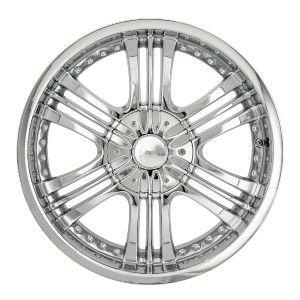 20 inch Mazzi Krusher Chrome Wheels Rims 6x5 5 H3 Entourage Tundra QX4