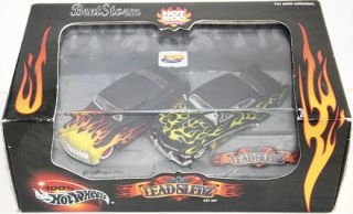 100 Hot Wheels 49 Mercury 2 Car Set Lead Sledz Lead Sleds Flames Adult
