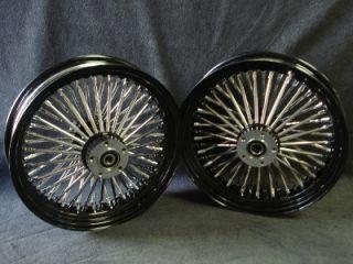 DNA Black Mammoth 52 Spoke Fat Daddy Wheels 4 Harley Customs