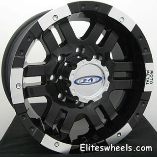 16x9 Black Wheels Rims Moto Metal MO951 5x4 5