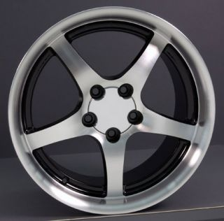 18 9.5/10.5 Black Corvette C5 Style Deep Dish Wheels Rims Fit Camaro