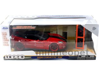 LoPro 2006 Chevy Corvette Z06 1 24 with 2 Sets of Wheels Red