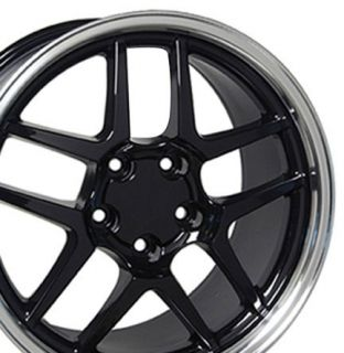 17 Black Wheels Rims Fit Trans Am Z06 C6 ZR1 Firebird