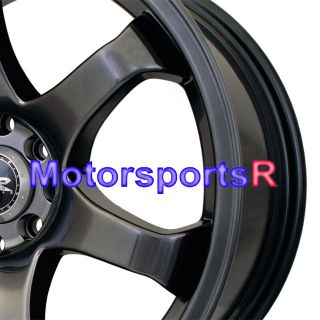 XXR 522 Chromium Black Rims Wheels Staggered Concave 4x100 BMW E30
