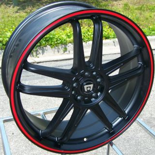 20 Black Motegi Racing Wheels Rims Neon Corolla Matrix Vibe TC XD