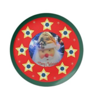 Santa Claus Merry Christmas Plate