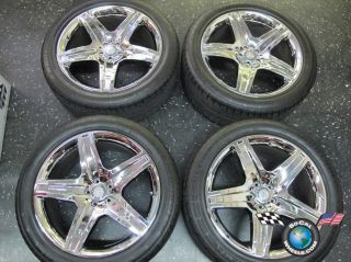 12 Mercedes Benz GL550 21 AMG Wheels Tires Rims 85108 Chrome
