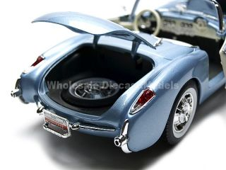 1957 Chevrolet Corvette Convertible Blue 1 18 Diecast