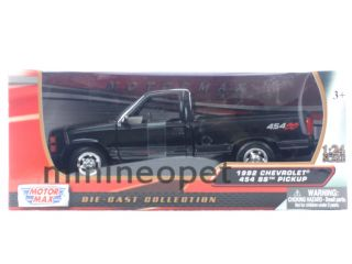 Motormax 1992 92 Chevrolet 454 SS Pick Up Truck 1 24 Diecast Black