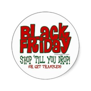 Black Friday Shop Till You Drop Sticker