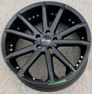 Gianelle Spidero 5 20 Black Rims Wheels Acura TL TSX 20 x 8 0 5H 38