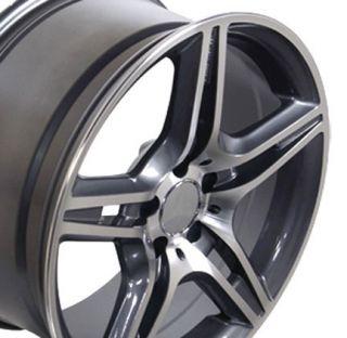 18 Gunmetal AMG Wheels Set of 4 Rims Fit Mercedes C E s Class SLK CLK
