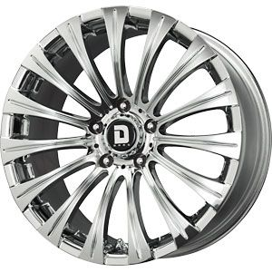 New 18x8 5 5x120 Drag Dr 43 Chrome Wheels Rims