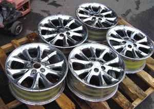 99 01 Chrysler 300M 17x7 Chrome Rims Wheel Set of 5