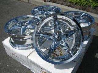Yoshi 20x8 5 5x120 65 35mm Wheels Rims Chrome Camaro Firebird