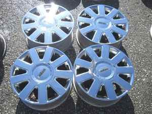 04 11 Lincoln Town Car Chrome Alloy Wheel Rims Set