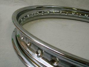 "Chrome Rim Stainless Spokes BSA A75 Rocket 3 19"" Rear Wheel Spool"