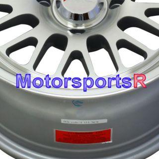 15 15x8 XXR 531 Machine Silver Wheels Rims Deep Dish Stance 4x4 5