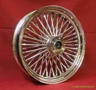 NEW ULTIMA KING SPOKE SERIES 16 X 3.5 48 SPOKE CHROME FRONT WHEEL WITH