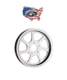 ELIMINATOR 7 CHROME 70 TOOTH FINAL DRIVE PULLEY HARLEY BIG TWIN 84 99