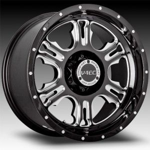 18 inch Vision Rage Black Wheel Rim 8x180 12