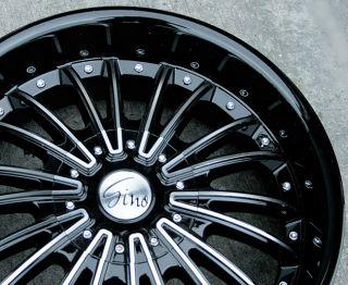 RVM 487 20 Black M Rims Wheels Lincoln MKS MKZ MKX