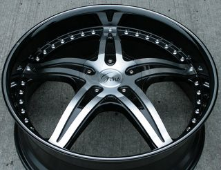 RVM 497 22 Black Rims Wheels Impala Malibu Grand Prix