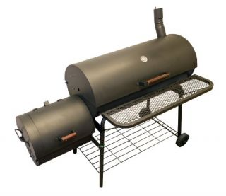 AZ Patio Heaters HIL 3014 SMK BBQ Smoker with Firebox on The Side 1200