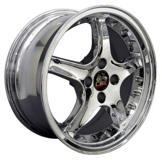Cobra 4 Lug Wheels Chrome Set of 4 17x8 RimS Fit Mustang® GT 79 93