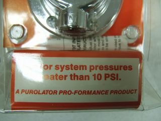 Purolator 54 Adjustable Fuel Pressure Regulator 5 16 Pro Fuel Made in