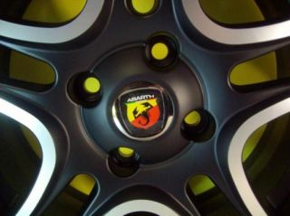 Alloy Wheels Center Caps Abarth Fiat Grande Punto Panda 500 Badge