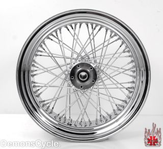 Chrome Rear 300 Wide Tire Rim Wheel 60 Spokes Billet Hub Fits Custom
