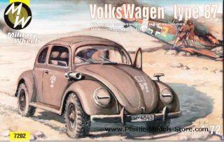 KDF Volkswagen Beetle Type 87 1 72 Military Wheels 7202