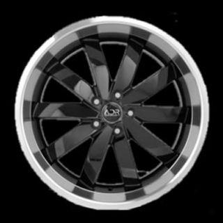 18x8 5 Black Wheels Rims adr Propulsion 5x112 Audi A4