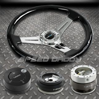 NRG Black Steering Wheel Hub Silver Quick Release MB Lock Kit 92 95