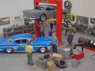 64 scale 55 Chevy and PVC display case only pictured below