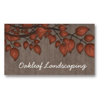Landscaping Business Card Autumn Tree Leaves