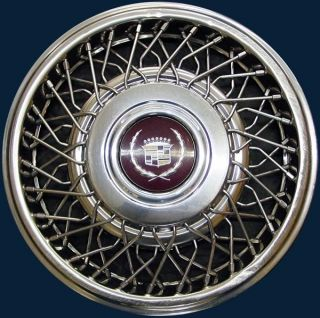 89 93 Cadillac Wire Wheel Cover Hubcap 15 Wheel Cover 2054 GM Part
