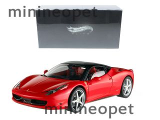 Hot Wheels Super Elite T8422 Ferrari 458 Italia 1 18 Diecast Red