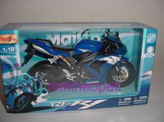 Maisto Yamaha YZF R1 Motorcycle Bike 1 12 Blue