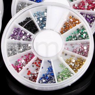 20 Wheel Assorted Nail Art Phone DIY Glitter Rhinestone