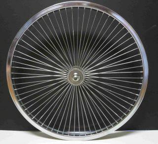 Cruiser BMX Bike 26x 1 75 Front Rims 68 Spokes Wheels Chrome