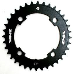 SINZ Bike Chainring Black 38t x 104mm 4 bolt pattern BMX / MTB / FIXED