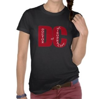 DC Big Red DOCTOR OF CHIROPRACTIC MEDICINE Tee Shirts