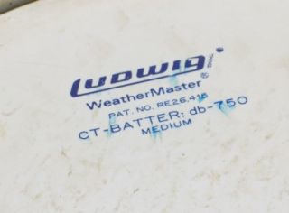 Vintage 1970s Ludwig Floor Tom Tom Drum Sky Blue 16x16 Blue Olive